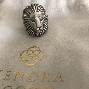 Kendra Scott silver Lion Collin Ring